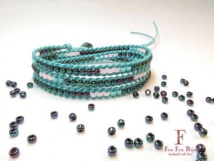 Bratara-multicolora-suprapusa-BLUE-RAY-snur-bleu