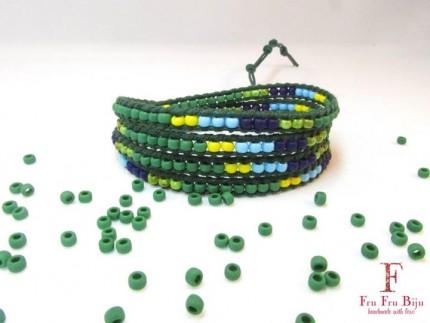 Bratara-infasurata-multicolora-CAMELEON-snur-verde