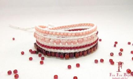 Bratara-roz-pietre-semipretioase-Quartz-JADED-PINK