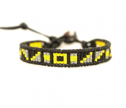 Bratara-dama-model-galben-negru