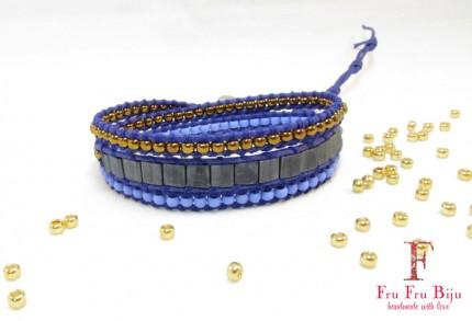 Bratara-impletita-margele-albastre-DOLPHIN-fata