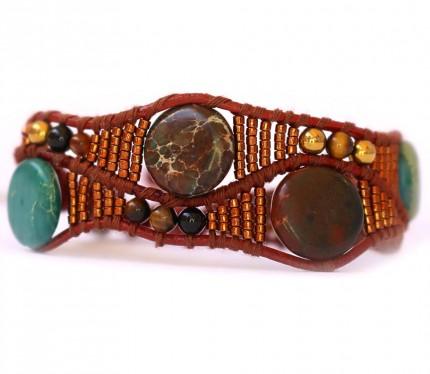 Bratara-FANGO-dama-design-unicat-margele-Jasp-Oceanic