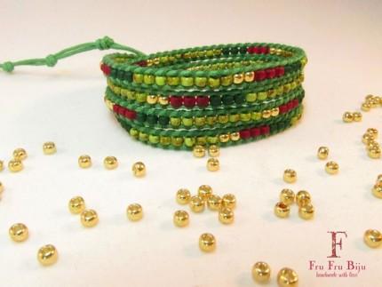 Bratara-infasurata-multicolora-GREEN-BURST