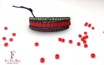 Bratara-suprapusa-snur-piele-naturala-margelute-sticla-HAPPY-RED