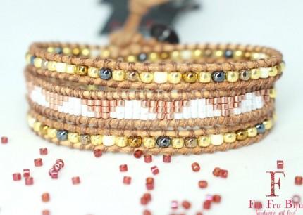 Bratara-aurie-femei-GOLD-RUSH-margele-sticla