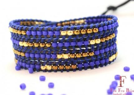 Bratara-margele-albastre-femei-DOME