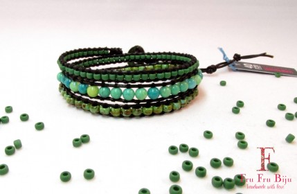 Bratara-pietre-semipretioase-verde-ape-Precious-Green