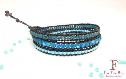 Bratara-suprapusa-albastra-margele-sticla-BLUE-TORMENT