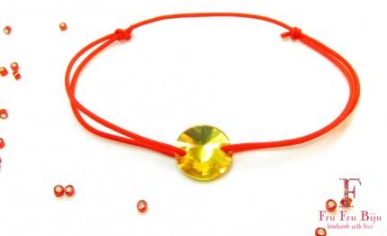 Bratara-snur-rosu-cristal-swarovski-galben