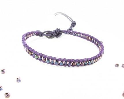 bratara-violet-margele-sticla