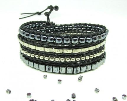 Bratara-argintie-pentru-femei-lucrata-manual