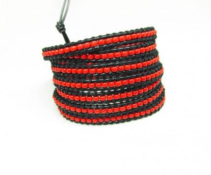 bratara-rosie-femei-Red-Snake