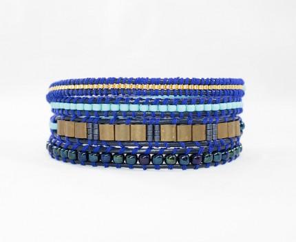 bratara-albastra-cu margele-pentru-femei