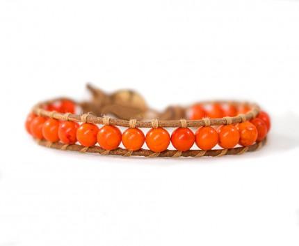 bratara-pietre-semipretioase-orange-howlit