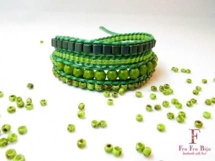 Bratara-snur-bumbac-verde-RAW-GREEN