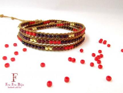 Bratara-vara-suprapusa-multicolora-RED-DOTS