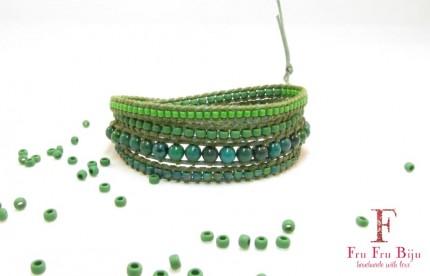 Bratara-dama-margele-semipretioase-verzi-Shelter