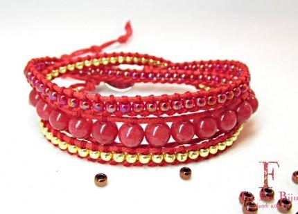 Bratara-dama-SPARKLE-RED-pietre-semipretioase-Jade