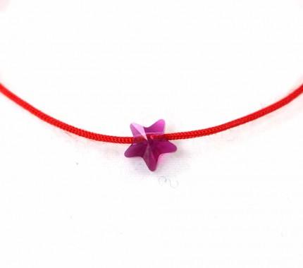 Bratara-snur-rosu-cristal-swarovski-steluta-roz