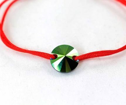 Bratara-snur-rosu-cristal-swarovski-verde